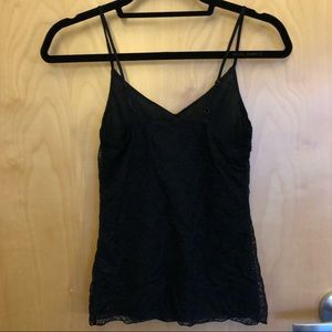 Banana Republic lined lace tank